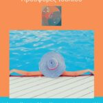 Orange and Blue Pool Photo Summer Fashion Poster
